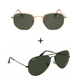 2 Oculos Ray Ban Aviador Feminino Masculino Black Friday 71b41914fb