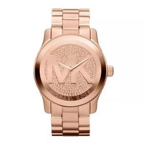 492cc0c410d7c Relogio Michael Kors Mk5394 Transparente Dourado Rosê - Relógios De ...