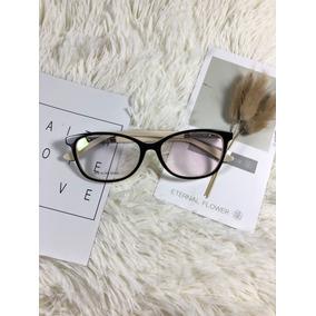 0b0af21d45ef5 Armação Oculos Grau Feminino Original Acetato Metal Aledf603