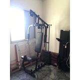 Estação De Musculação Diamond Fitness Df 7000 50kg - Usado