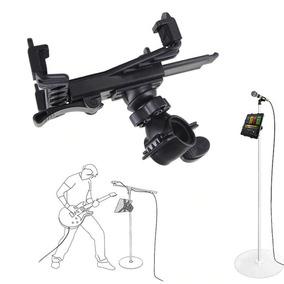Suporte P/ Pedestal De Microfone Para Ipad Tablet 7 A 11 Pol