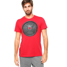 Camiseta Adidas Vermelha - Camisetas Manga Curta para Masculino em ... 5127c2220cc