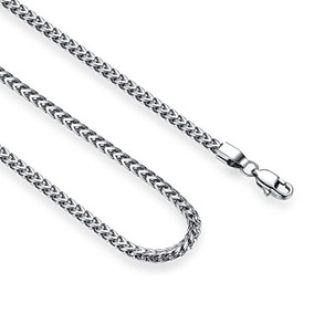 Reve Jewelry Collar De Cadena Franco De Acero Inoxidable De