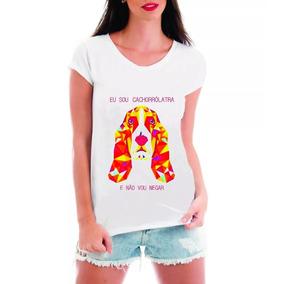 Camisetat-shirt Roupas Feminina Dog Cachorro Love Blusas