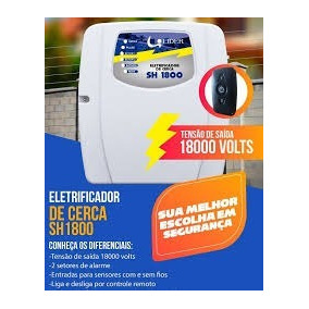 Central De Cerca Choque Elétrica 18.000 Volts