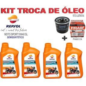 Kit Troca Oleo E Filtro Kawasaki Z750 Z800 Repsol 10w40 Sl