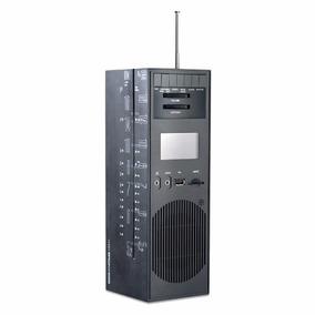 Brionvega Rr-327 Radio Relógio Usb Memória Sd Rr327 Preto
