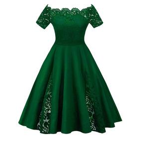 Elegante Vestido Casual Dama Encaje Moda Partido Multicolor