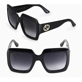 a7da6c14a9692 Óculos Gucci Preto Quadrado Original. R  760