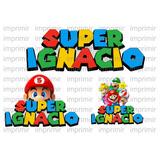 Super Mario Bros Logos Personalizados Digitales.