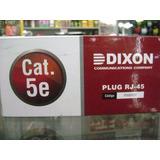 Conector Plug Rj45 Rj-45 Dixon Cat 5e Y Cat 6 Caja X 100 Uni