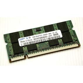 Memória Ram Notebook Samsung 2gb 2rx8 Pc2 6400s 666 12