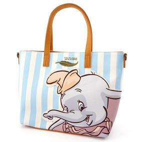 Disney Loungefly Bolsa Dama Dumbo Rayas Stripped Blue 2019