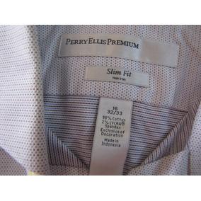 Camisa Perry Ellis Premium Slim Fit Social Original 16 32/33