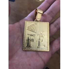 Pingente Fé Banhado A Ouro 18k Ideal Cordões De 7 À 13mm