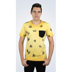 Camiseta Vide Bula Caveira Amarela Barata 488bb3fb718ca