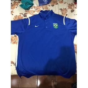 Camiseta Nike Time Brasil Azul Polo b9e6c7e2cca47