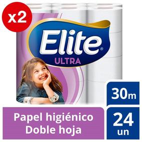 Papel Higiénico Elite Pack X2 48u Doble Hoja Ultra 30m
