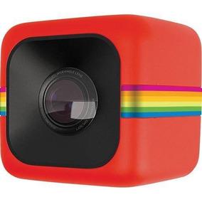 Câmera De Ação Cube Vermelha Da Polaroid - Polcubelsr