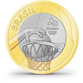 Moeda - Basquete -olimpíadas Rio 2016 - Frete Grátis
