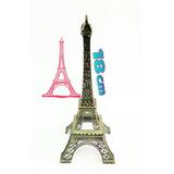 Adorno Para Eventos Torre Eiffel De Metal 18cm