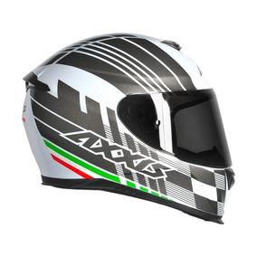 Capacete Motociclista / Axxis Eagle Italy Branco/cinza Fosco