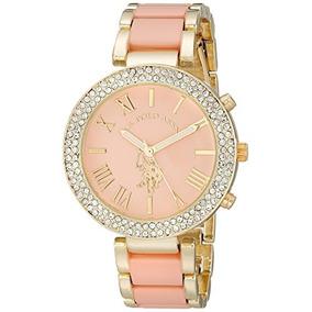 b6bad253573 Reloj U.s. Polo Assn Para Mujer Usc40063 Color Oro Rosa