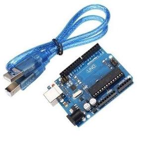 Arduino Uno R3 Atmega328p Atmega16u2 + Cabo Usb