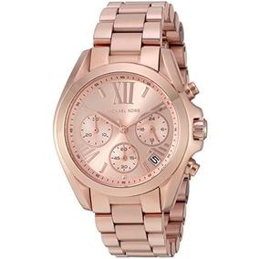 Reloj Michael Bradshaw Kors Moderno Rosa Mk5799 El De Or