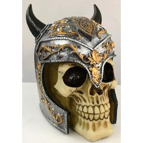 Caveira Em Resina Viking - Decoração no Mercado Livre Brasil 2a76cc4ef9a