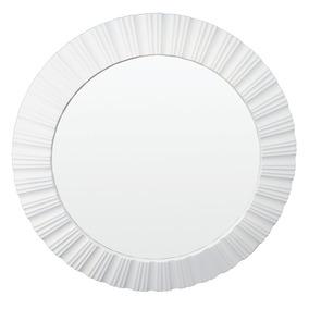 Espelho Escritório Decorativo Sala Branco 51x51x4,5 Cm
