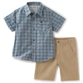 662572a611 Conjunto Calvin Klein Original. Bermuda E Camisa Social.