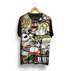 Figurinhas Do Coringa Tamanho G - Camisetas Manga Curta no Mercado ... 520fdebc718