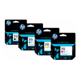 Pack De Tintas Hp 711 Negro 80ml + 711 Colores 29ml