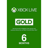 Xbox Live Gold De 6 Meses - Xbox One/360