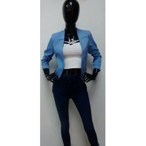 Saco Azul Mujer