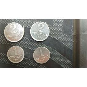 Moedas 1 Centavo 1967 E 1969 Cruzeiros