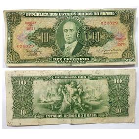 Cédula Nota De 10, Dez Cruzeiros - Getúlio Vargas. Estampa A