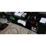 Mueble De.cristal Templado Negro Con Soporte Para Tv