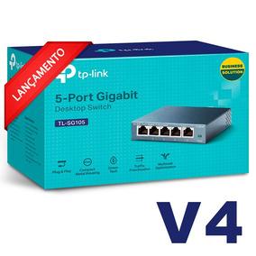 Switch Mesa 5 Portas 10/100/1000mbps Tp-link Tl-sg105 V4.0