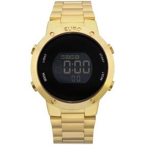 Relógio Feminino Euro Fashion Fit Eubj3279aa/4d Aço Dourado