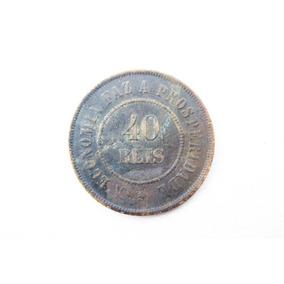 Moeda De 40 Réis De 1901
