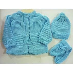 Casaquinho De Lã - Recém Nascido (com Touca E Sapatinho)