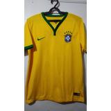 Camisa Infantil Seleção Brasileira -cbf Nike 2014 - Tem Nome 326ed2253a9bc
