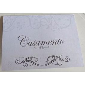 Convite Pequeno Casamento Cor Cinza (10 Unidades)