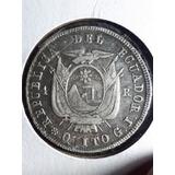 Moneda De 4 Reales Antigua Predecimal Del Ecuador De 1857