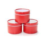 Envase De Metal Rojo Tapa 8 Oz 24 Pz Vela Manualidades Craft