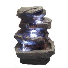 Fuente De Rocas Cascada Luz Led Feng Shui 35.5cm Envi Gratis