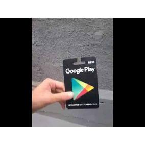Cartão Playstore De 30$