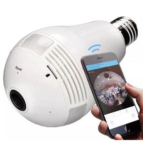 Camera Ip Wifi Sem Fio Grava E Filma 360 Graus